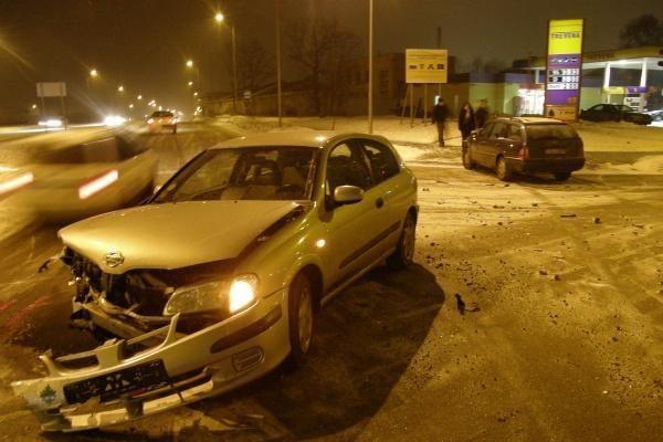 Reguliuojamoje sankryžoje – moterų sukelta avarija