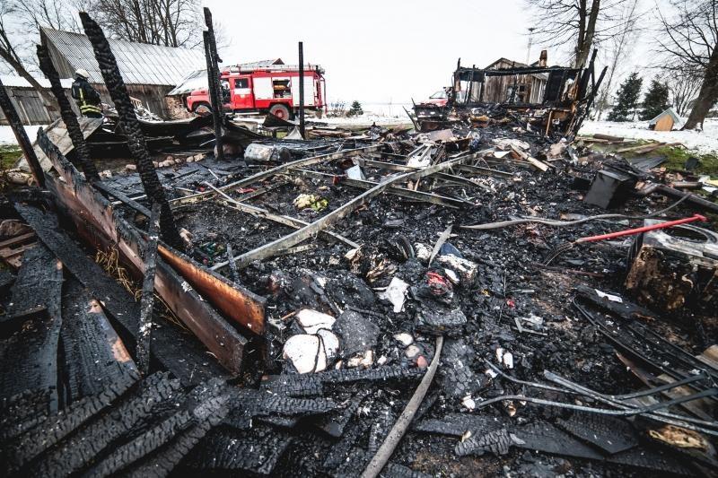 Kol šeimininkas buvo išvykęs, jo namas visiškai sudegė