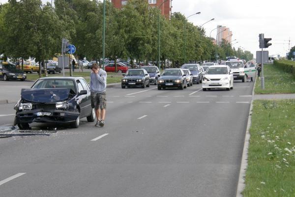 Uostamiestyje – dviguba avarija