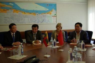 Klaipėdos uoste lankėsi Kinijos atstovų delegacija