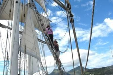"Atrinkti regatos""The Tall Ships' Races"" buriavimo praktikantai"