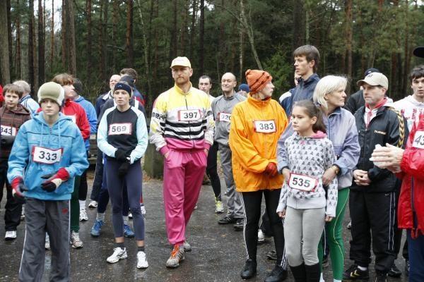Stiprus vėjas bėgikų nebaugino