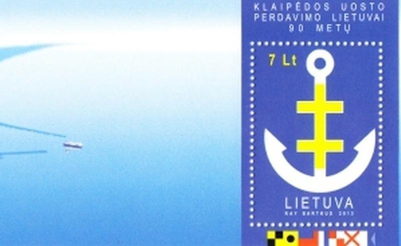 Menininkas R. Bartkus sukūrė pašto ženklą, skirtą Klaipėdos uostui