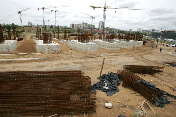 Nacionalinio stadiono statybose - auka