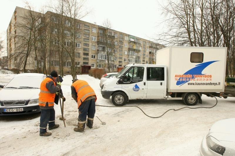 Kaune dėl vandentiekio avarijos trys daugiabučiai liko be vandens