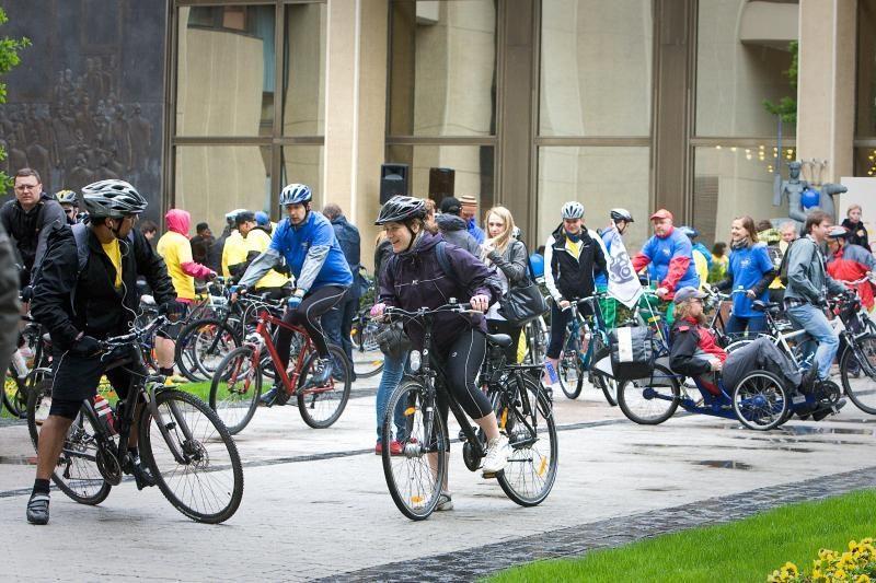 Dviračių žygio metu šeštadienį Vilniuje bus ribojamas eismas