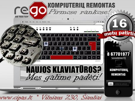 Skelbimas - SAMSUNG nešiojamų kompiuterių klaviatūros, keitimas, remontas