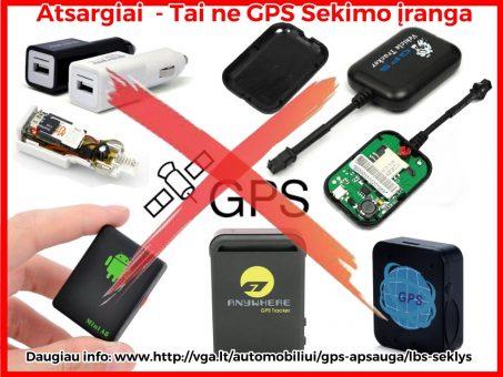 Skelbimas - GPS Seklys