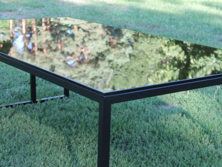 Skelbimas - Loft design mini valgomasis stalas su stiklu.
