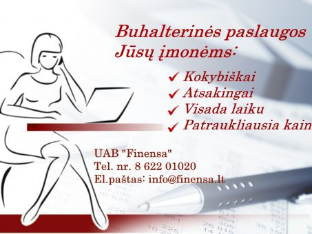 Skelbimas - Buhalterinės paslaugos / Бухгалтерия / Accounting