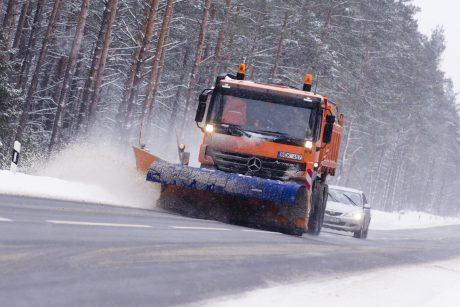 Klaipėdoje ir Kretingoje eismo sąlygas sunkina lijundra