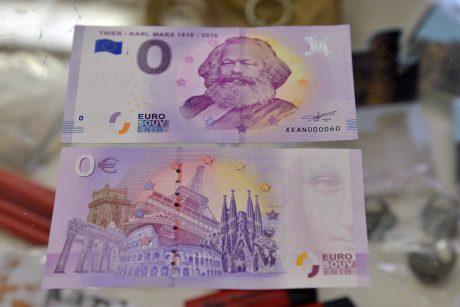 K. Marxo tėvynėje nulinio nominalo euro banknotai sulaukė netikėto susidomėjimo