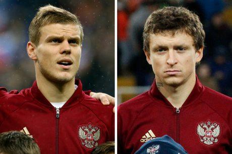 Dviem muštynėse dalyvavusiems Rusijos futbolininkams pareikšti kaltinimai