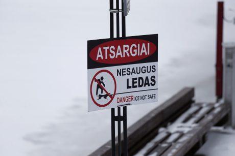 Lipti ant ledo – pavojinga