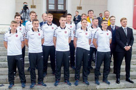 Lietuvos futbolo rinktinės pristatymas