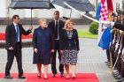 Kroatijos prezidentės vizitas Lietuvoje