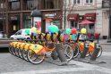 Į sostinės gatves išrieda miesto dviračiai