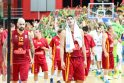 Išvargo: Lietuvos rinktinė pirmąją pergalę Europos čempionate iškovojo prieš makedonus