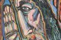"""Laisva: 480 eurų įvertinta kauniečio J.Zalenso drobė """"Kristus"""" aukcione liko neparduota."""