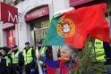 Tūkstančiai portugalų protestuoja prieš kitų metų biudžeto projektą