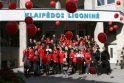 Virš Klaipėdos danguje - šimtas raudonų balionų