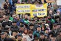 Pensininkų mitinge - kalbos apie revoliuciją bei raginimai teisti valdžią (papildyta)