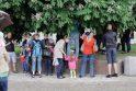 Klaipėdos Atgimimo aikštėje skriejo burbulai