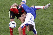 Italijos futbolininkai privertė pasiduoti Belgijos rinktinę