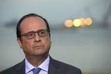 Prancūzijos prezidentas pripažįsta, kad esama teroro grėsmės futbolo čempionatui