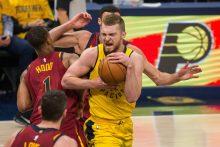 D. Sabonis dėl traumos gali praleisti NBA rungtynes