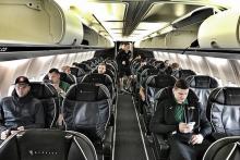 Dėl lėktuvo gedimo Lietuvos rinktinė neišskrido į Tel Avivą