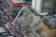 Tragiškas gaisras Manilos viešbutyje