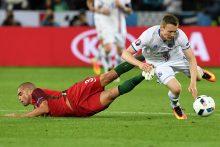 Staigmena: Portugalijos futbolininkai nesugebėjo nukauti Islandijos ekipos