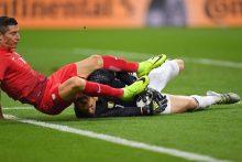 Vokietijos ir Lenkijos futbolininkai sužaidė be įvarčių