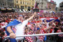 Zagrebe dešimtys tūkstančių žmonių pasveikino sugrįžusią futbolo rinktinę