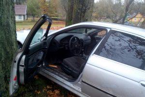 Nuo pasieniečių sprukęs BMW vairuotojas rėžėsi į medžius