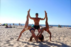 Pajūryje akrobatiniai triukai sulaukė plojimų