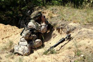 Du Lietuvos karių savanorių būriai dalyvauja pratybose Latvijoje