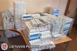 """Pareigūnų """"laimikis"""" ‒ 11 tūkst. pakelių kontrabandinių cigarečių"""