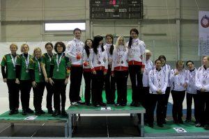 Lietuvos moterų akmenslydžio rinktinė iškovojo sidabro medalius