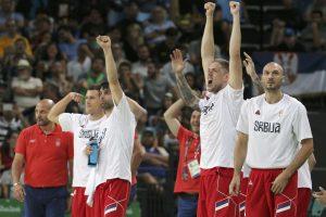 Serbai sutriuškino australus ir pirmąkart kovos dėl olimpinio aukso