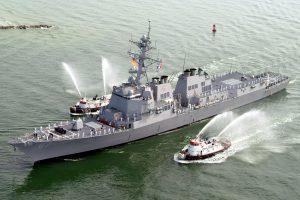 Jemeno sukilėlių paleistos raketos nukrito netoli JAV karo laivo