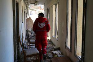 Sirijoje per apšaudymą Raudonojo Pusmėnulio centre žuvo trys žmonės