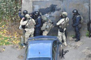 Tbilisyje specialiosioms pajėgoms šturmuojant butą žuvo trys teroristai ir karys