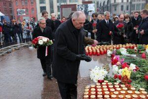 Lietuvos ambasadorius Maskvoje pagerbė sovietinių politinių represijų aukas