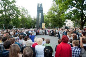 Į V. Kudirkos aikštę – giedoti tautos himno