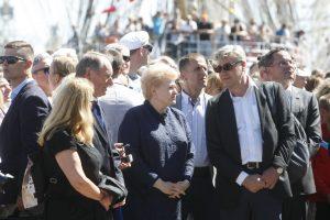 Uostamiestyje apsilankė D. Grybauskaitė, premjeras nepasirodė