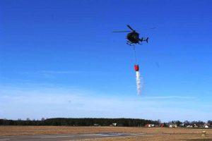 Gaisras Rūdninkų girioje užgesintas sraigtasparnio pagalba (vaizdo įrašas)