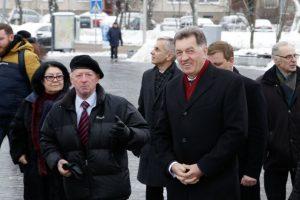 A. Butkevičius TV bokšte susitiko su Sausio 13-osios draugijos nariais