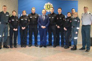 Policijos mokykloje stažuojasi studentai iš Vokietijos